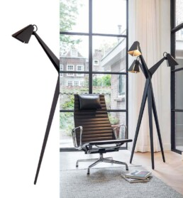 Design stehleuchte Blume met 3 lampenschirme. Bio-philisch-zirkulär