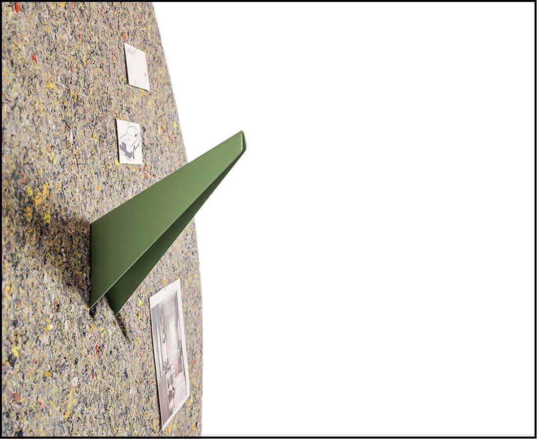 Geluidsabsorberend prikbord, geluidsabsorberend van 100% circulair