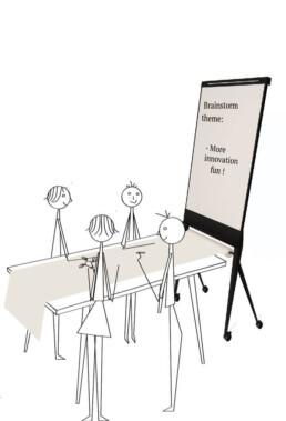 Design flipover flipchart whiteboard & paperroller