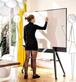 UIL scrumboard: Stijlvol verrijdbaar whiteboard dubbelzijdig magnetisch; Stylefull mobile whiteboard doublesided magnetic with scrumboards