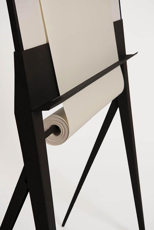 whiteboard papierrolhouder detail