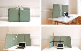 Een elegant een veelzijdig akoestisch flex-scherm - COVID vriendelijk-VLINDER
