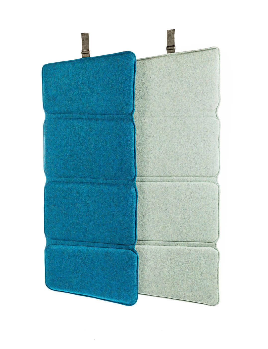 Acoustic flex-screen: room-divider, wall-panel, desk-screen. Sound comfort for flex working