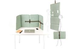 Comfort flexwerk scherm voor akoestiek en visuele afscheiding. Veelzijdig en overal te gebruiken