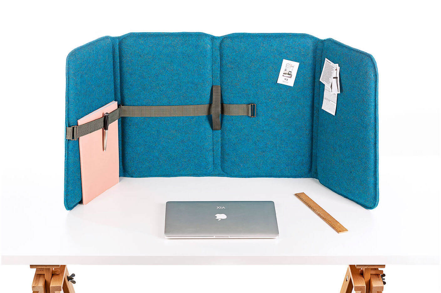 VLINDER: An acoustic desk-screen, room-divider, wall-panel and briefcase in one.