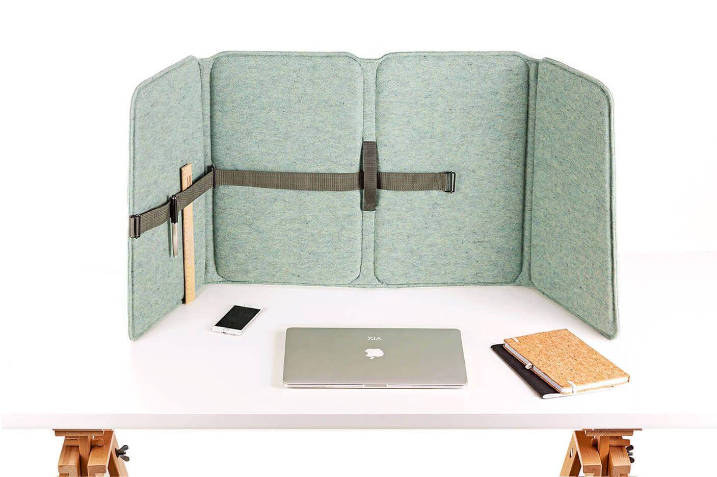 VLINDER akoestisch flex-bureauscherm, wandpaneel, tussenschot.