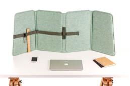Veelzijdig, mooi bureauscherm om geluidscomfort op elke plek te bieden.