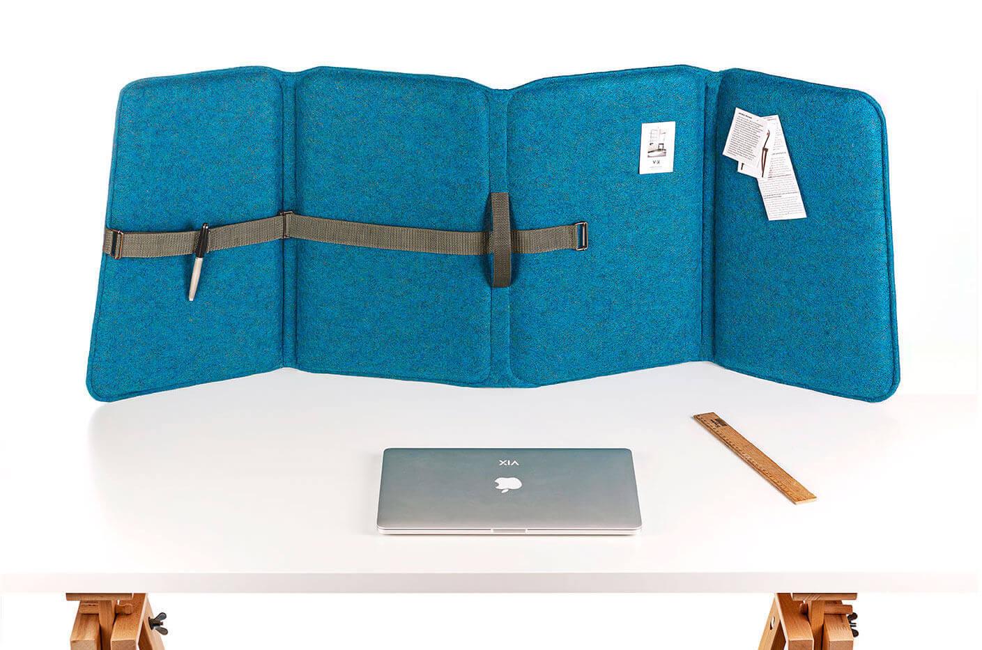 Akustik-Büroschirm mit einer hochwertigen akustischen Füllung