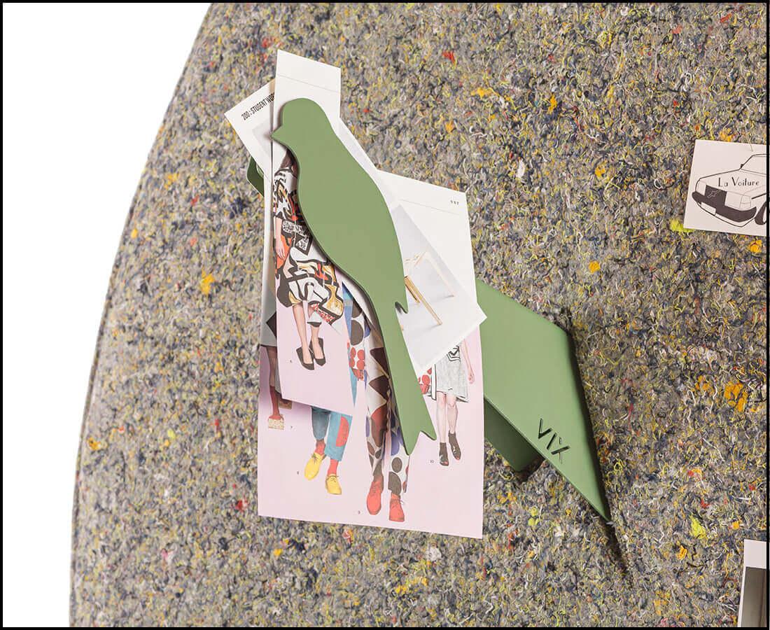 Vogelmagneten voor inspiratie, notities, vergeet-me-nietjes