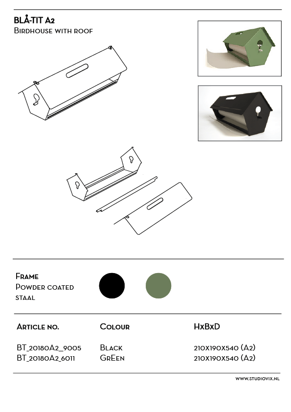 A design paper roller: birdhouse for ideas and notes.