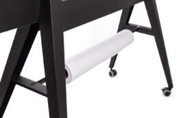 verrijdbaar whiteboard premium design dubbelzijdig magnetisch emaile schrijfoppervlak met scrum-bordjes, papierrolhouder en opberg vak