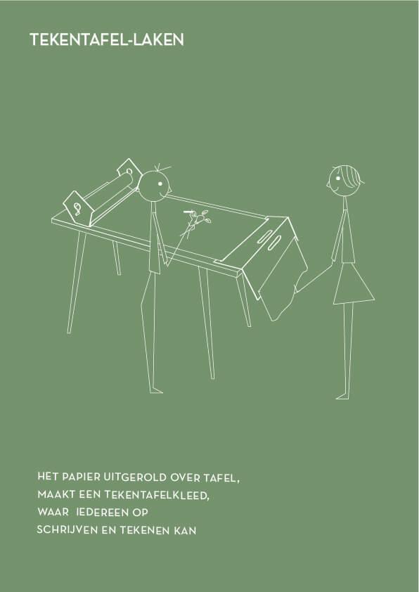 Innovatie start met samen brainstormen, met een mooie papierrolhouder op tafel