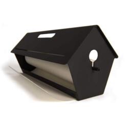 Visualisieren von Ideen mit BLA-TIT: Vogelhaus mit papierrolle,. A birdhouse with a roll of paper for ideas and notes.