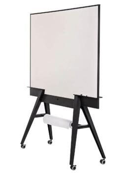 verrijdbaar scrum whiteboard premium design dubbelzijdig magnetisch emaile schrijfoppervlak met scrum-bordjes, papierrolhouder en opberg vak