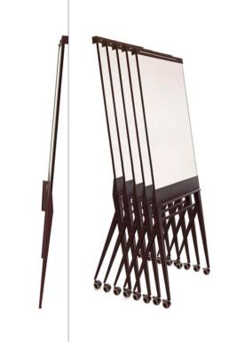 verrijdbare flipover whiteboard mobile flip-chart compact op te bergen