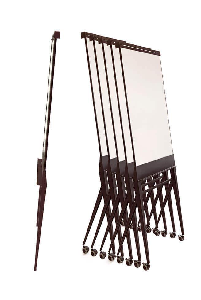 Hotel designboard, flip-chart. Easy stackable & foldable
