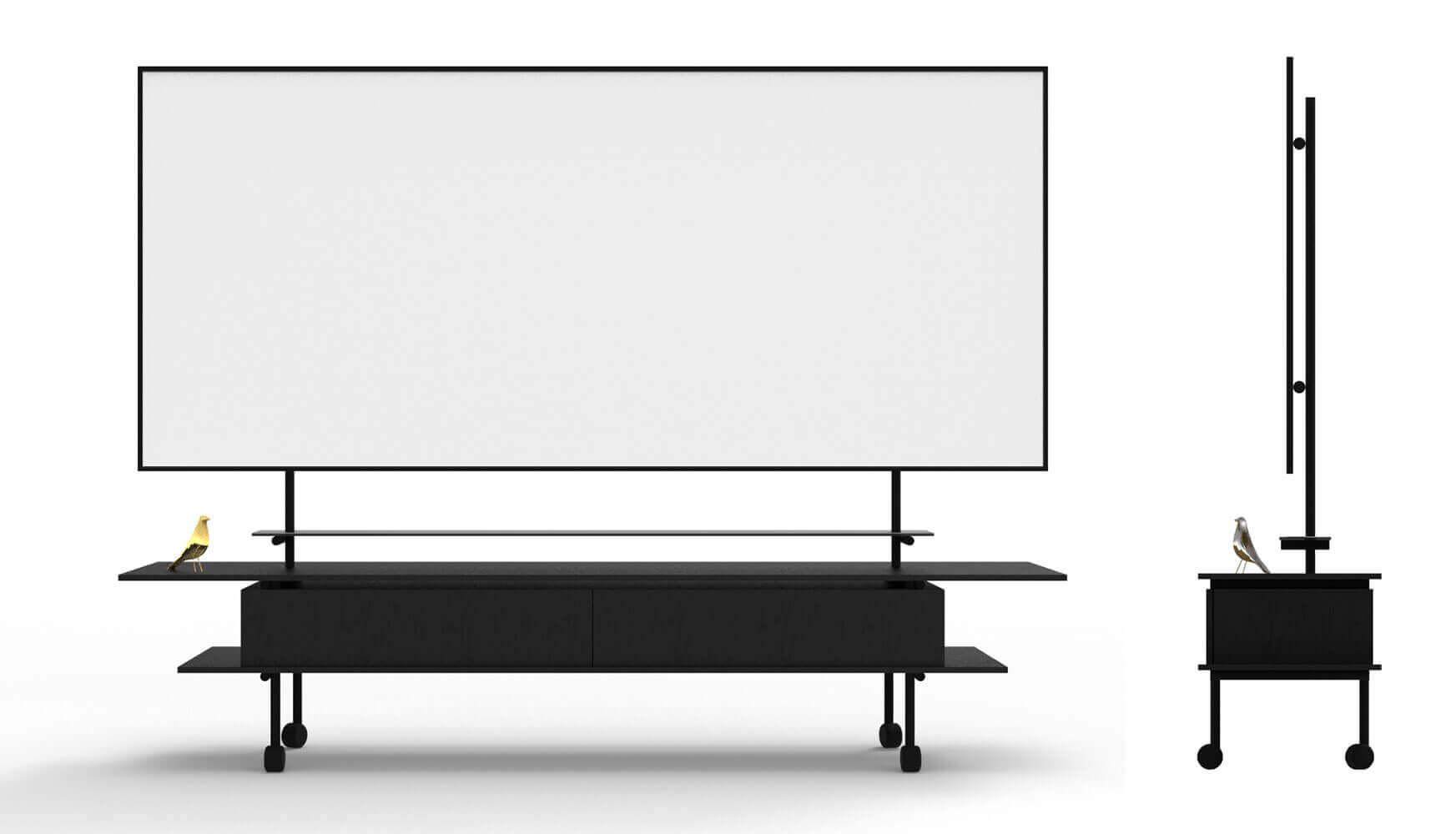 Een klassiek whiteboard meubel op maat gemaakt