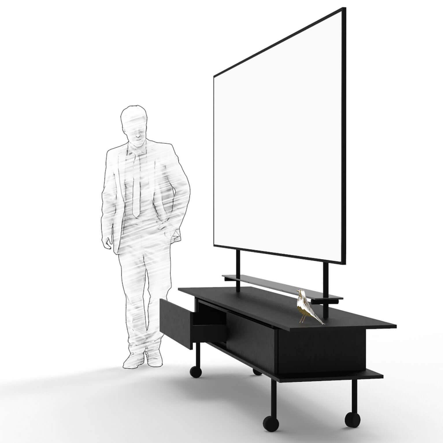 Groot magnetisch whiteboard meubel 2700*1200 mm