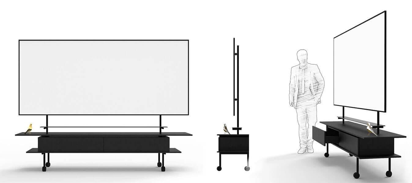 Stijlvol directie whiteboard meubel-ontwerp
