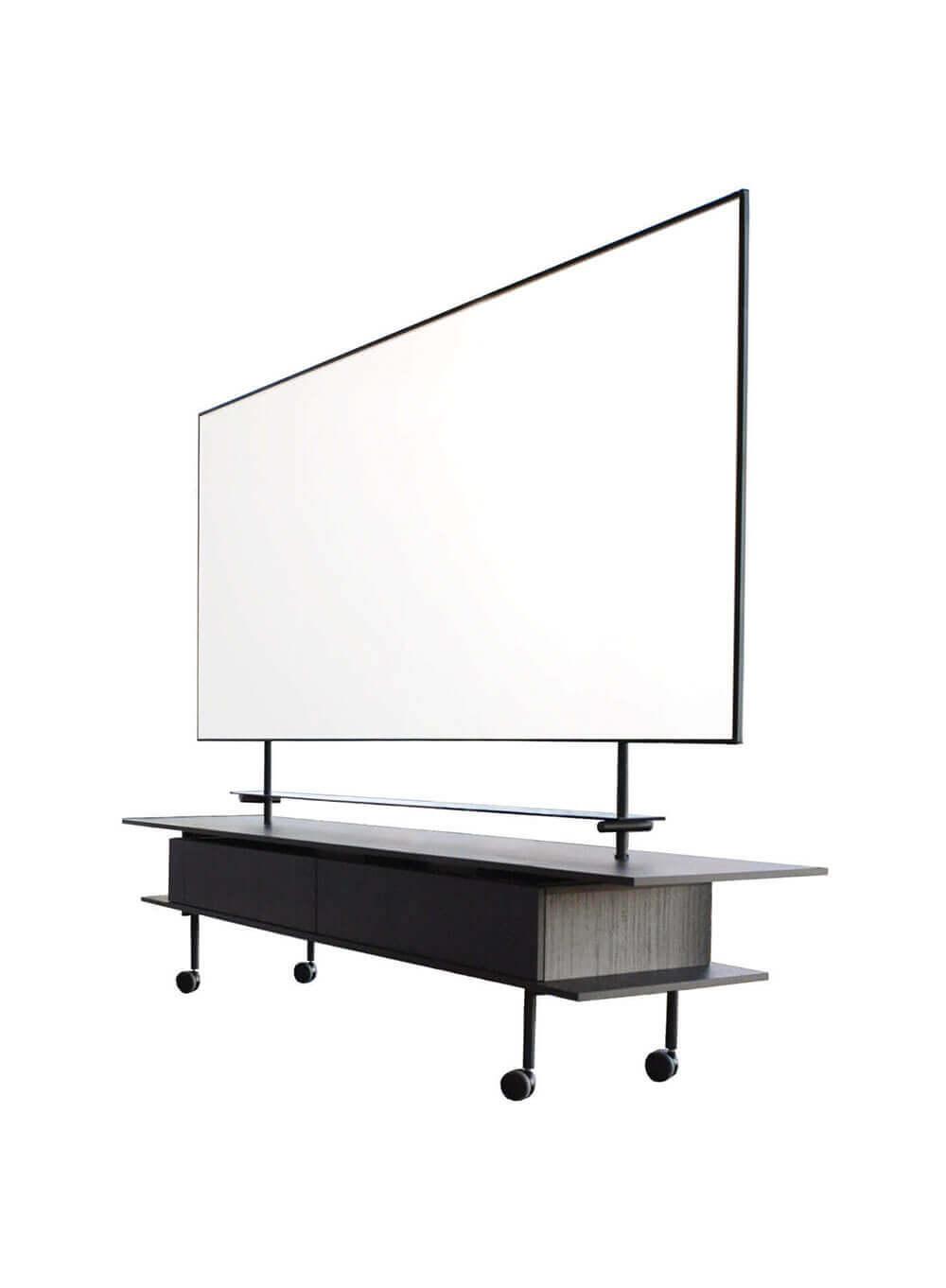 Een uniek groot verrijdbaar emaille magnetisch whiteboard 270*120 cm