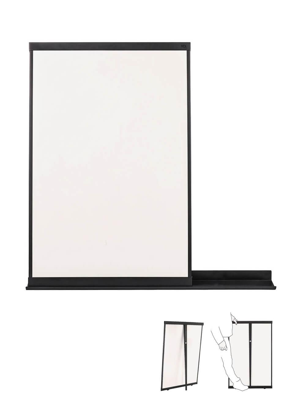 Stijlvol whiteboard / flip-over, multifunctioneel en overal te plaatsen