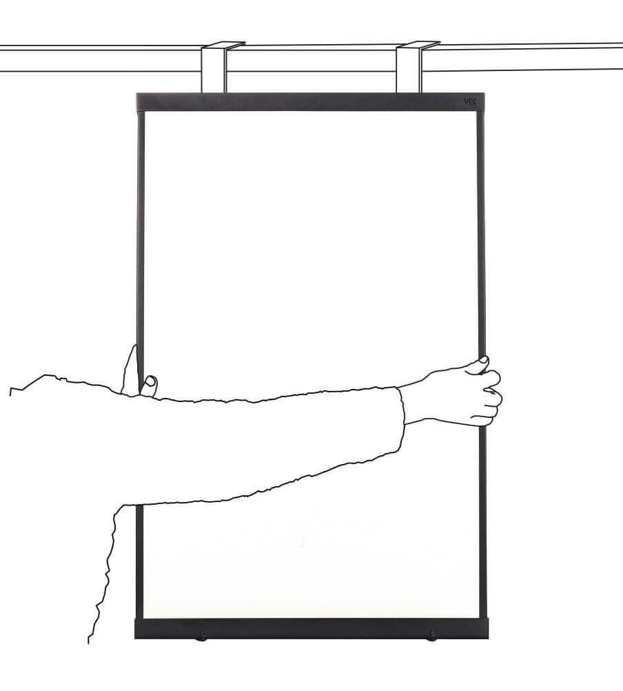 Een mooi magnetische emaille whiteboard- overal te plaatsen