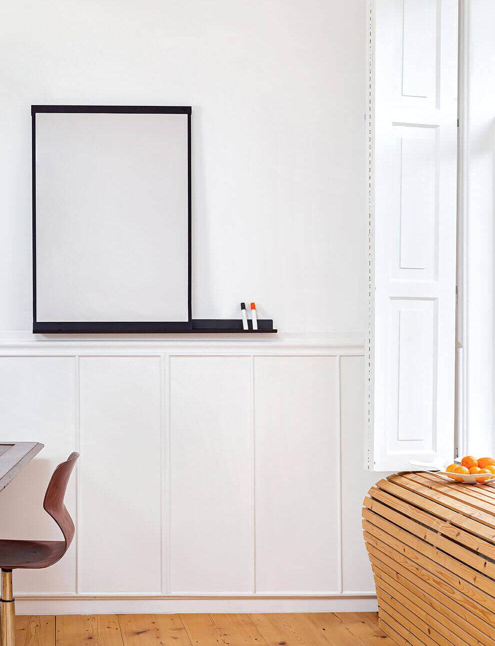 Stijlvol whiteboard voor in het thuiskantoor