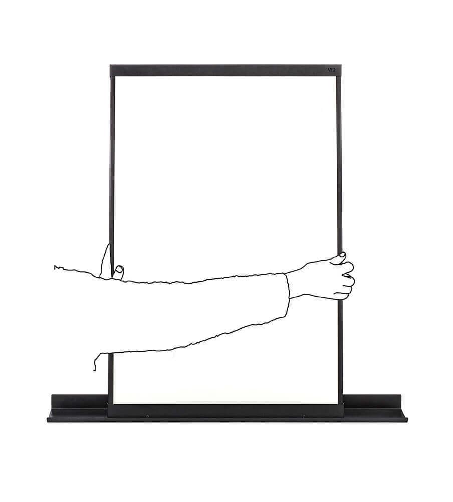 Een multifunctioneel, magnetisch flex whiteboard