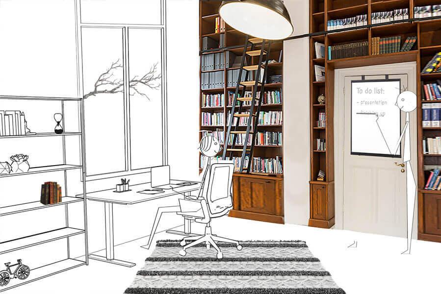 Een elegant whiteboard voor een inspirerend thuiskantoor