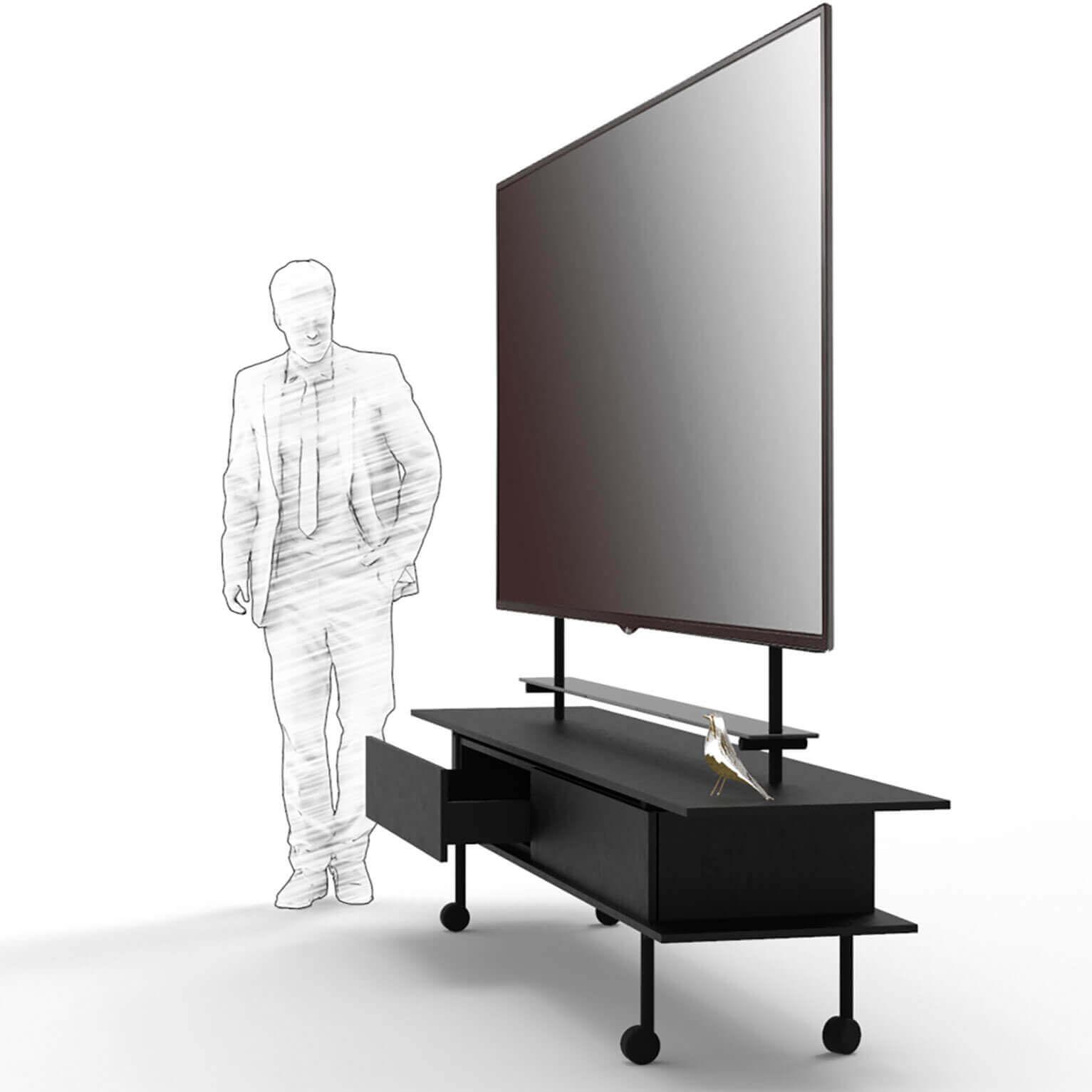 Een stijlvol LCD scherm meubelontwerp