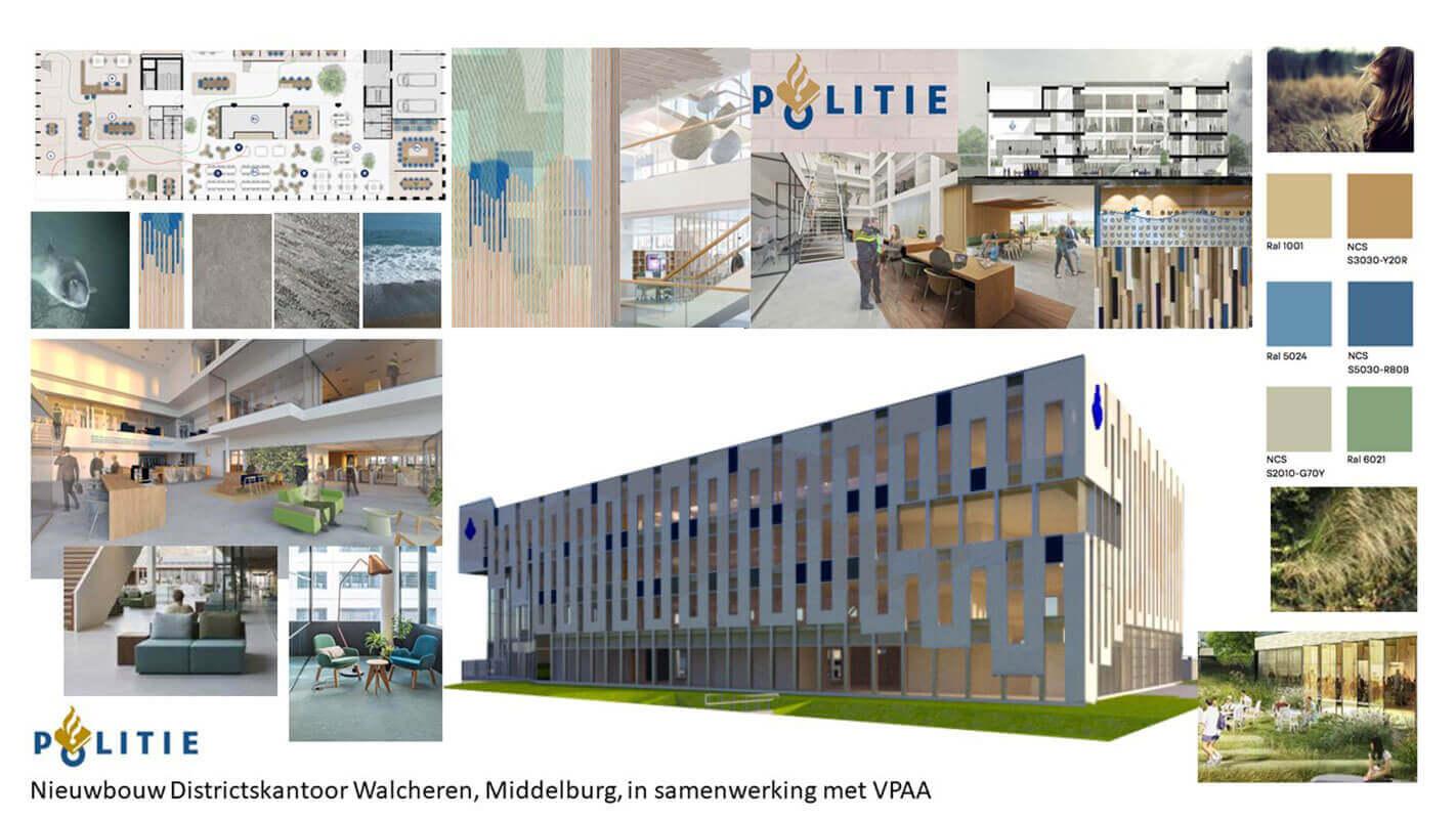 Interieur-architectuur ontwerp politie Middelburg