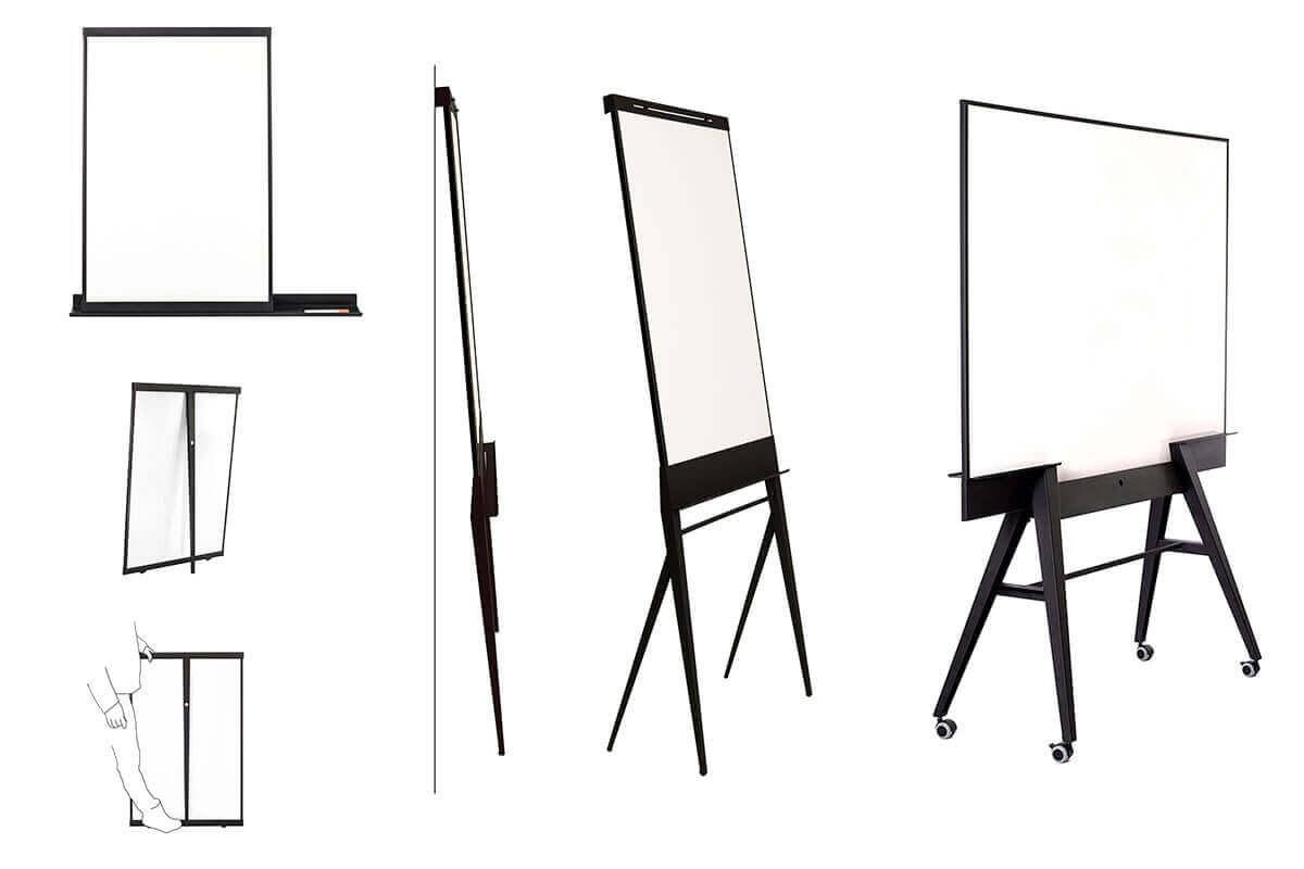 verrijdbare design flip-over, whiteboard, flip-chart, mobile & stylefull - StudioVIX