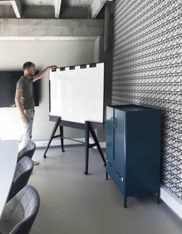 UIL scrumboard: Stijlvol verrijdbaar whiteboard, uniek en slim. Circulair