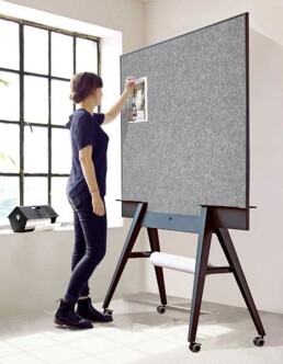 groot whiteboard & pinboard   prikbord
