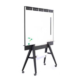 Elegante, Magnetisches Whiteboard mit Papierabroller und Scrum Boards