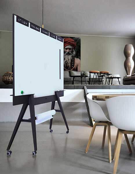Stijlvol verrijdbaar whiteboard dubbelzijdig magnetisch: UIL scrumboard: