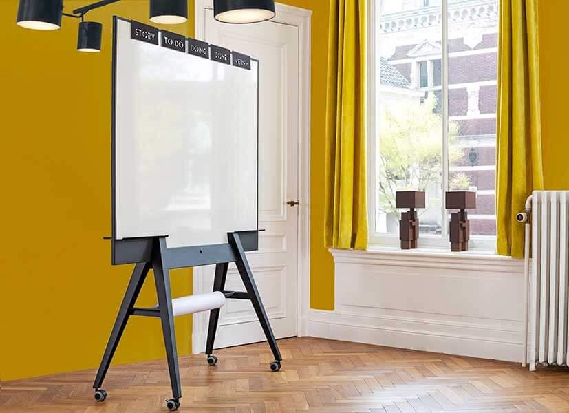 Stijlvol-verrijdbaar-whiteboard-scrumboard-magnetisch-emaile